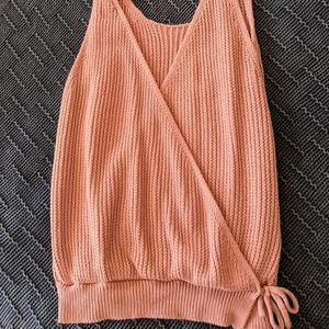 Moon&Madison Dusty Rose Tank Top Sweater